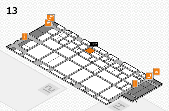 EuroShop 2017 hall map (Hall 13): stand D62