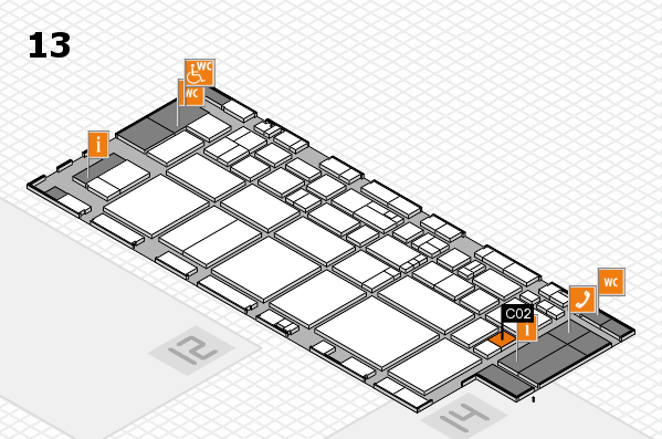 EuroShop 2017 hall map (Hall 13): stand C02