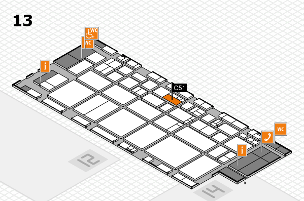 EuroShop 2017 hall map (Hall 13): stand C51