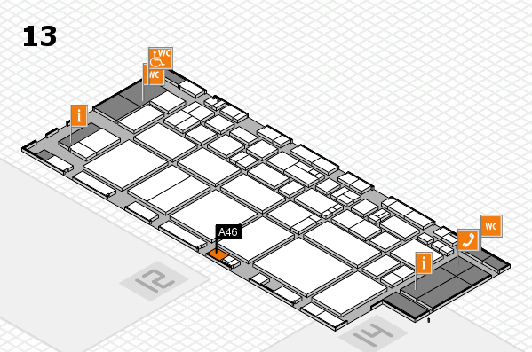 EuroShop 2017 hall map (Hall 13): stand A46