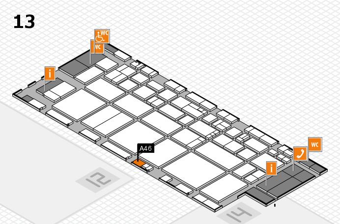 EuroShop 2017 hall map (Hall 13): stand A46