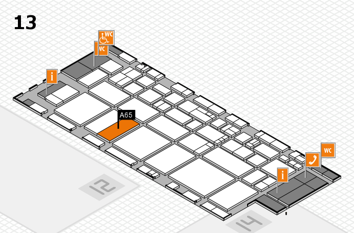 EuroShop 2017 hall map (Hall 13): stand A65