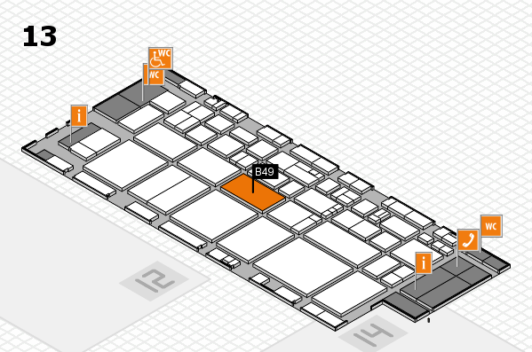 EuroShop 2017 hall map (Hall 13): stand B49