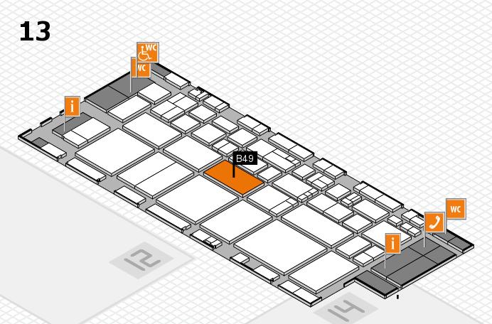 EuroShop 2017 hall map (Hall 13): stand B49