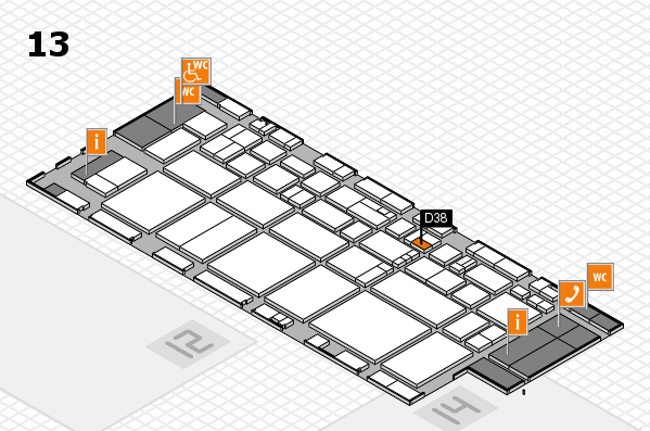 EuroShop 2017 hall map (Hall 13): stand D38