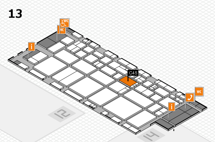 EuroShop 2017 hall map (Hall 13): stand C45