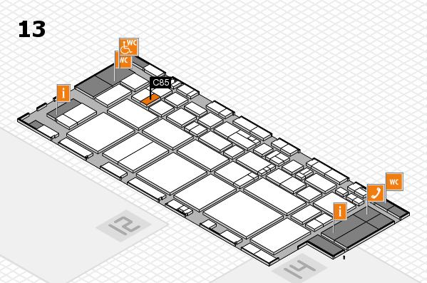EuroShop 2017 hall map (Hall 13): stand C85