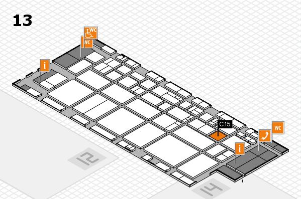 EuroShop 2017 hall map (Hall 13): stand C15