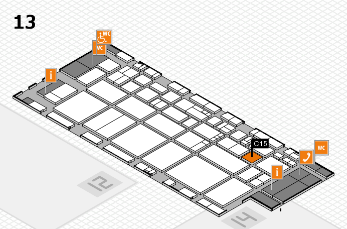 EuroShop 2017 hall map (Hall 13): stand C15