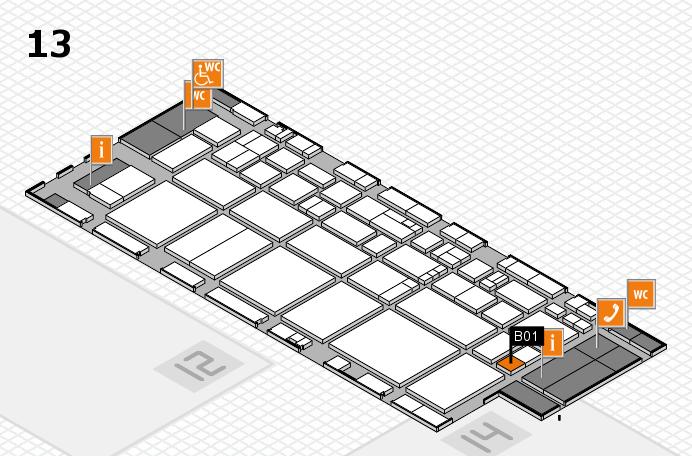 EuroShop 2017 hall map (Hall 13): stand B01
