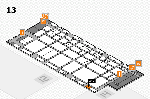 EuroShop 2017 hall map (Hall 13): stand A12