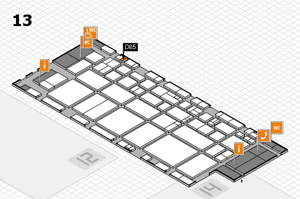 EuroShop 2017 hall map (Hall 13): stand D85