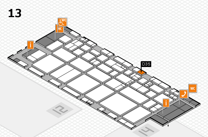 EuroShop 2017 hall map (Hall 13): stand D35