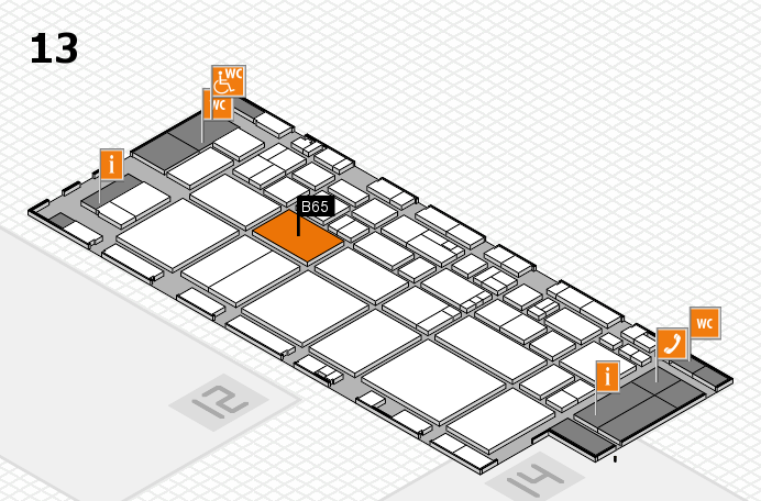 EuroShop 2017 hall map (Hall 13): stand B65