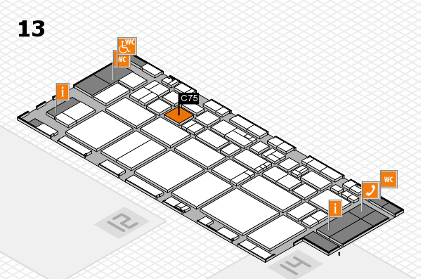 EuroShop 2017 hall map (Hall 13): stand C75