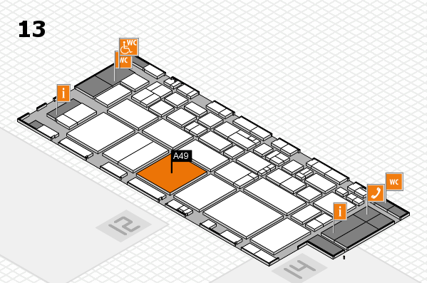 EuroShop 2017 hall map (Hall 13): stand A49