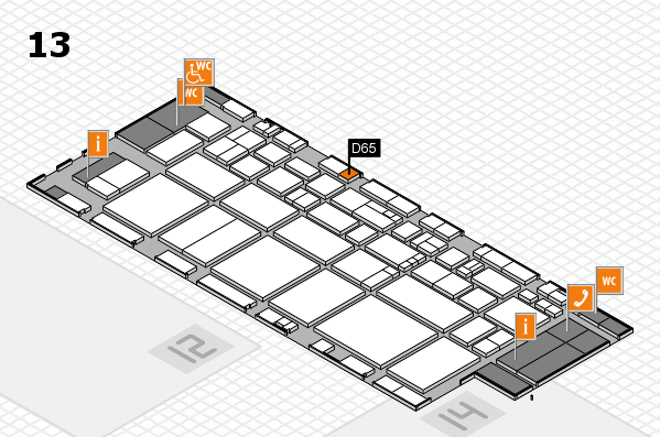 EuroShop 2017 hall map (Hall 13): stand D65