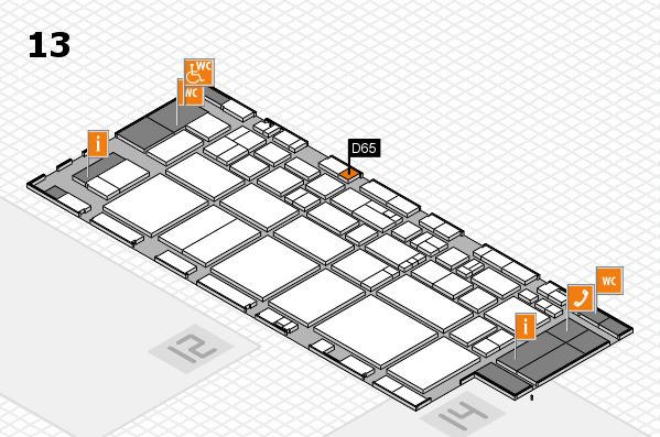 EuroShop 2017 hall map (Hall 13): stand D65