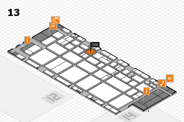 EuroShop 2017 hall map (Hall 13): stand D66