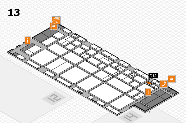 EuroShop 2017 hall map (Hall 13): stand D12