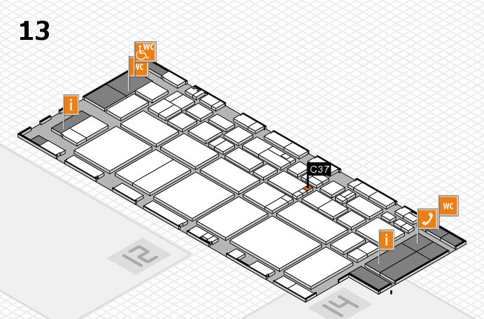 EuroShop 2017 hall map (Hall 13): stand C37