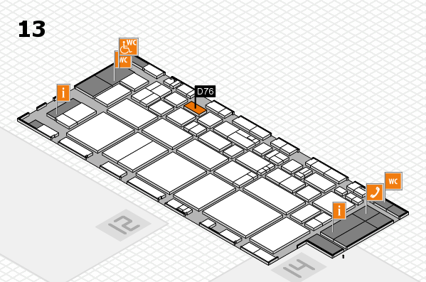 EuroShop 2017 hall map (Hall 13): stand D76