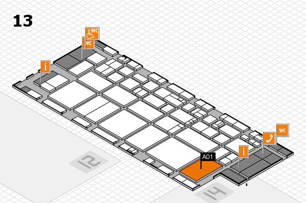 EuroShop 2017 hall map (Hall 13): stand A01