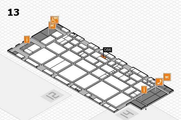 EuroShop 2017 hall map (Hall 13): stand D56