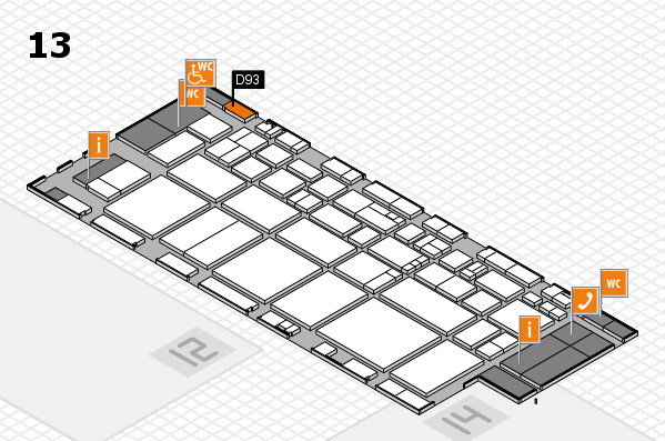EuroShop 2017 hall map (Hall 13): stand D93