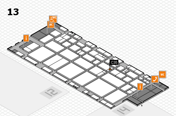 EuroShop 2017 hall map (Hall 13): stand C35