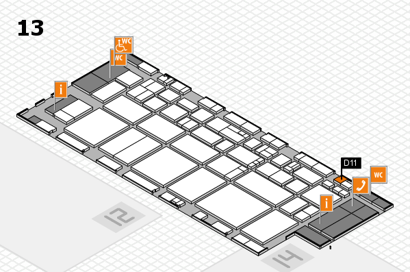 EuroShop 2017 hall map (Hall 13): stand D11
