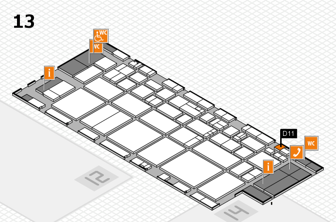 EuroShop 2017 hall map (Hall 13): stand D11