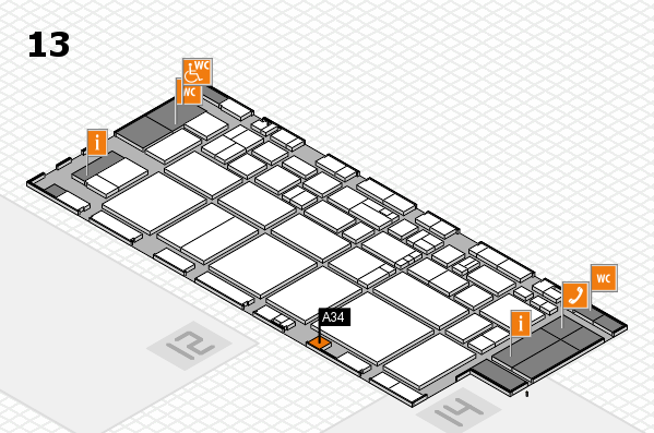 EuroShop 2017 hall map (Hall 13): stand A34