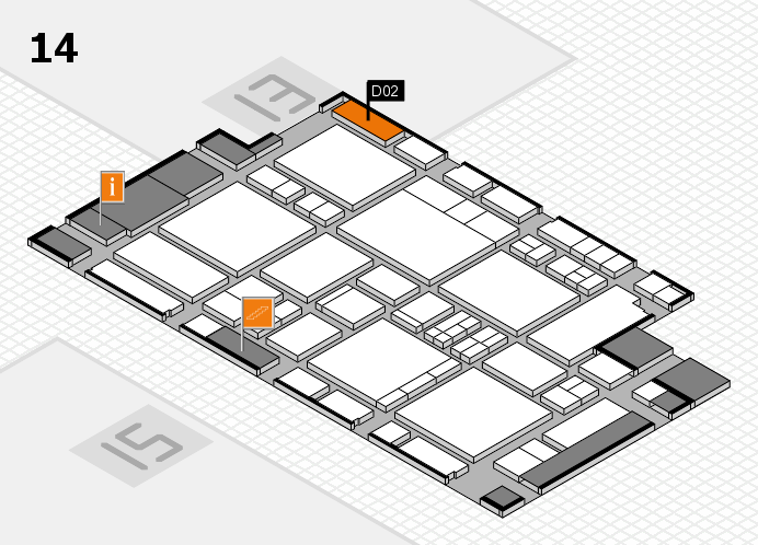 EuroShop 2017 hall map (Hall 14): stand D02