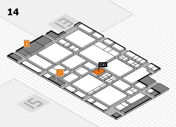 EuroShop 2017 hall map (Hall 14): stand C41
