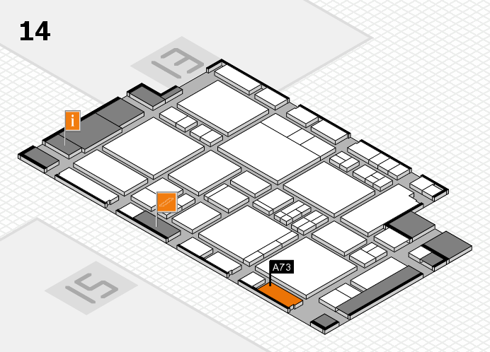 EuroShop 2017 hall map (Hall 14): stand A73