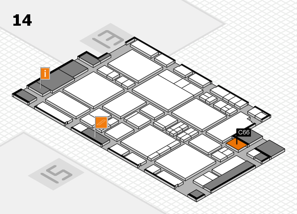 EuroShop 2017 hall map (Hall 14): stand C66