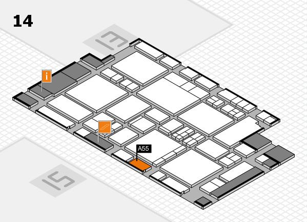 EuroShop 2017 hall map (Hall 14): stand A55