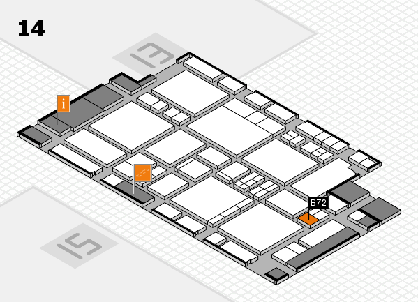 EuroShop 2017 hall map (Hall 14): stand B72