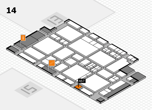 EuroShop 2017 hall map (Hall 14): stand A57