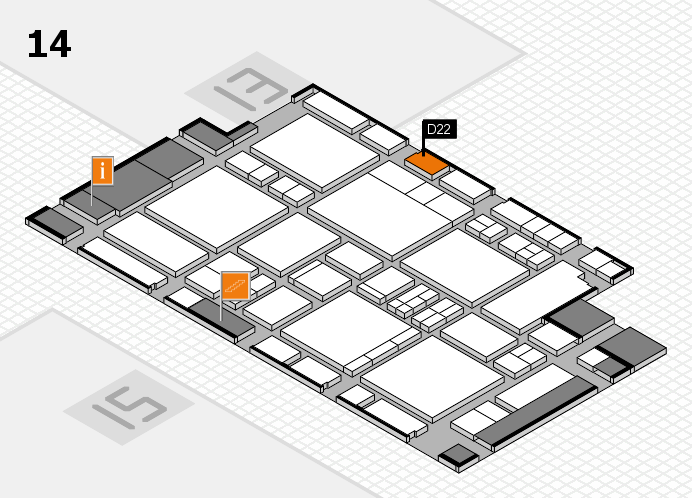 EuroShop 2017 hall map (Hall 14): stand D22