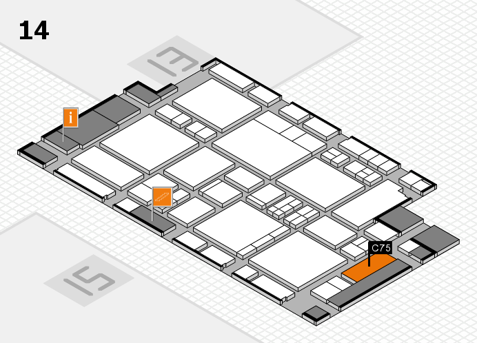 EuroShop 2017 hall map (Hall 14): stand C75