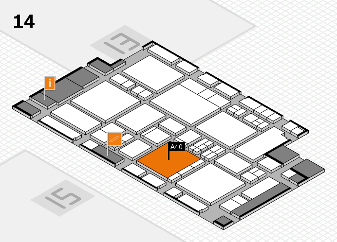 EuroShop 2017 hall map (Hall 14): stand A40