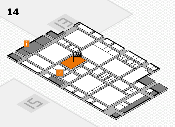 EuroShop 2017 hall map (Hall 14): stand B22