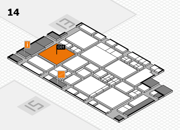 EuroShop 2017 hall map (Hall 14): stand C01