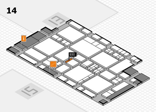EuroShop 2017 hall map (Hall 14): stand B30