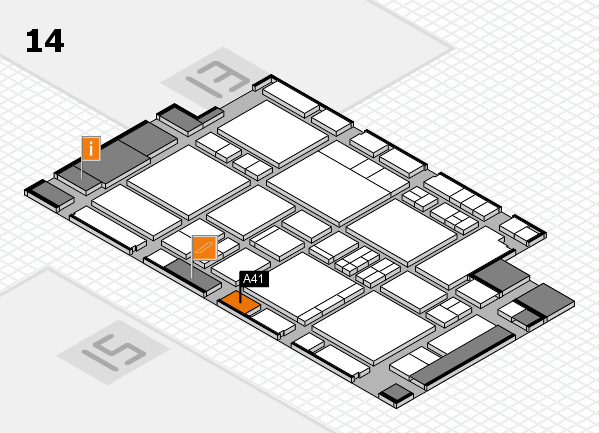 EuroShop 2017 hall map (Hall 14): stand A41