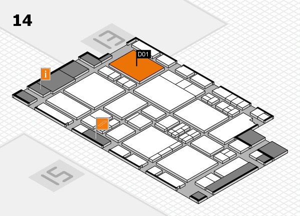EuroShop 2017 hall map (Hall 14): stand D01
