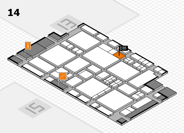 EuroShop 2017 hall map (Hall 14): stand D35