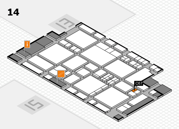 EuroShop 2017 hall map (Hall 14): stand C67